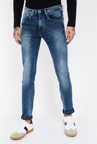 FLYING MACHINE Jackson Stonewashed Skinny Fit Jeans