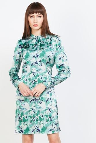 VERO MODA Camouflage Print Shirt Dress