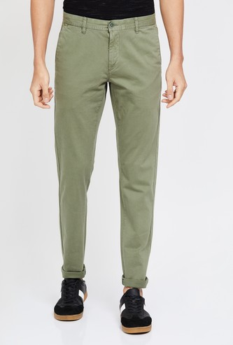 U.S. POLO ASSN. Solid Slim Fit Casual Trousers