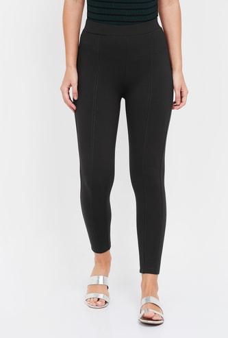 MS. TAKEN Solid Elasticated Leggings