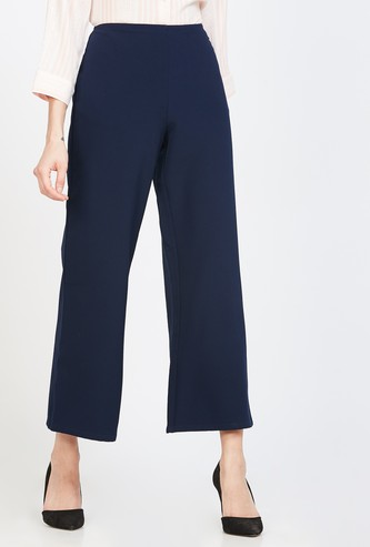 ALLEN SOLLY Solid Flared Trousers