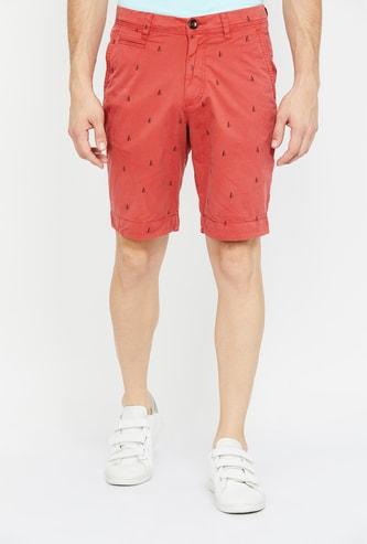 FAHRENHEIT Printed Slim Fit City Shorts