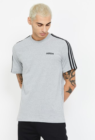 ADIDAS Striped Regular Fit Crew Neck T-shirt