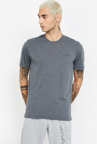ADIDAS Textured Regular Fit T-shirt