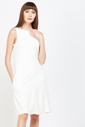 VERO MODA Solid Sheath Dress