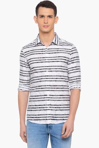 SPYKAR Striped Full Sleeves Slim Fit Casual Shirt