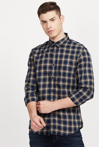 INDIAN TERRAIN Checked Super Slim Fit Casual Shirt