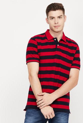 INDIAN TERRAIN Striped Slim Fit Polo T-shirt