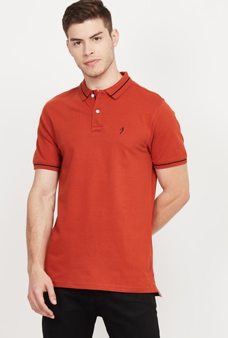 INDIAN TERRAIN Solid Regular Fit Polo T-shirt