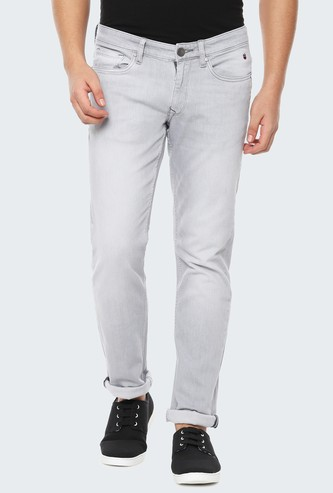 LP JEANS Stonewashed Slim Tapered Jeans