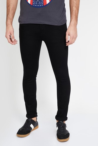 ED HARDY Solid Skinny Fit Jeans