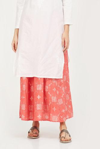 AURELIA Printed A-line Midi Skirt