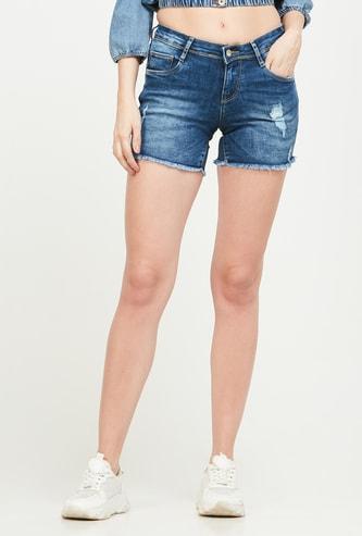 KRAUS Distressed Denim Shorts