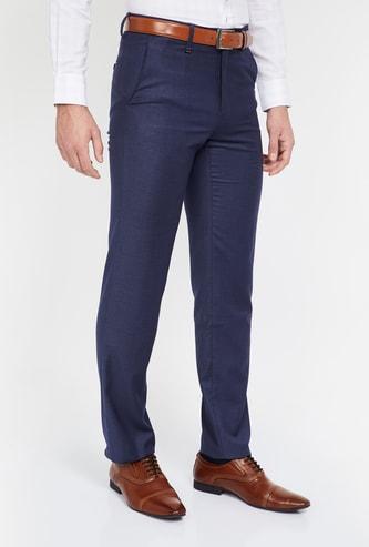 VAN HEUSEN Textured Regular Fit Trousers