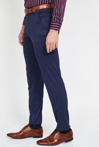 VAN HEUSEN Textured Regular Fit Formal Trousers