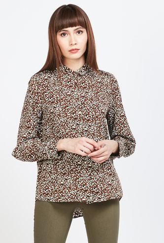 VAN HEUSEN Animal Print Regular Fit Shirt