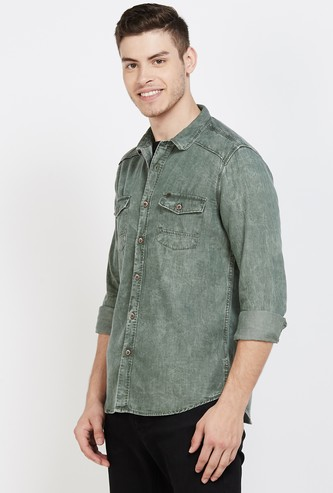 PEPE JEANS Washed Regular Fit Casual Shirt
