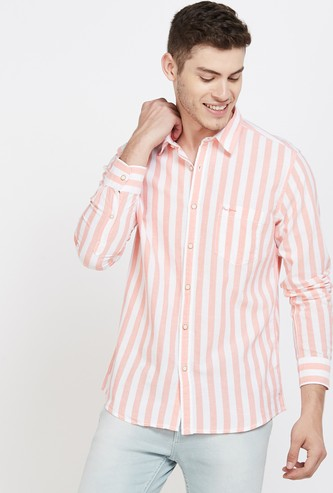 PEPE JEANS Striped Regular Fit Casual Shirt