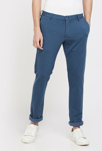 BLACKBERRYS CASUAL Textured Super Slim Fit Chinos