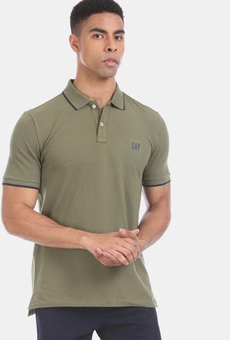 GAP Men Solid Regular Fit Polo T-shirt