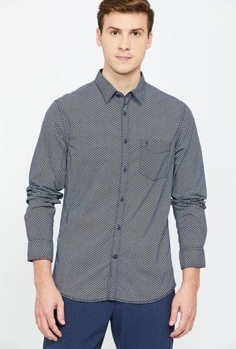 INDIAN Terrain Printed Full Sleeves Super Slim Fit Casual Shirt