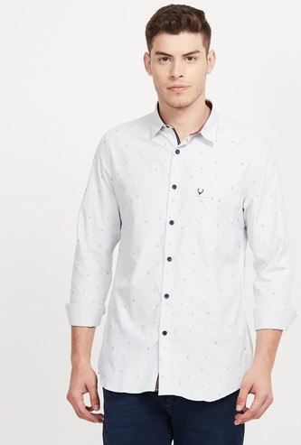 ALLEN SOLLY Printed Slim Fit Casual Shirt