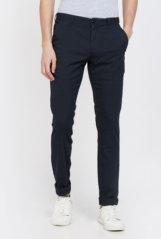 COLORPLUS Checked Super Slim Fit Chinos