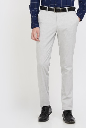 COLORPLUS Textured Super Slim Fit Trousers