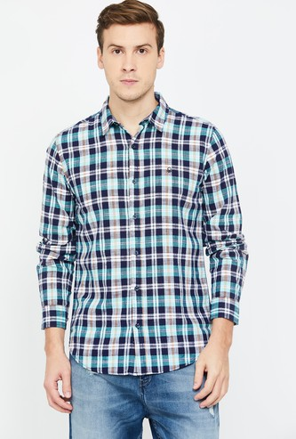 UNITED COLORS OF BENETTON Men Checked Slim Fit Casual Shirt