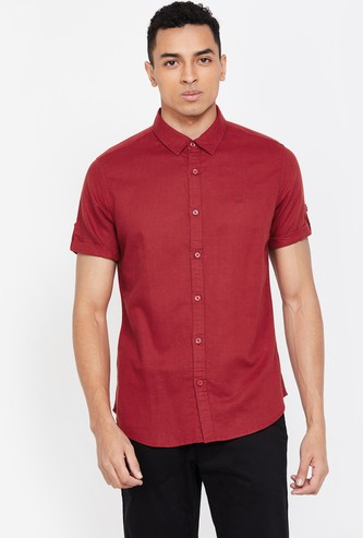 UNITED COLORS OF BENETTON Solid Slim Fit Casual Shirt