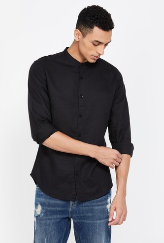 UNITED COLORS OF BENETTON Men Solid Full Sleeves Slim Fit Casual Shirt