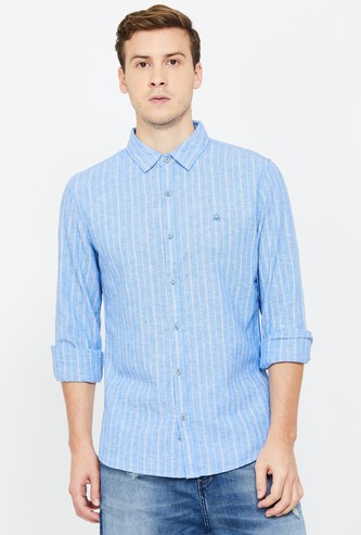 UNITED COLORS OF BENETTON Men Striped Slim Fit Casual Shirt