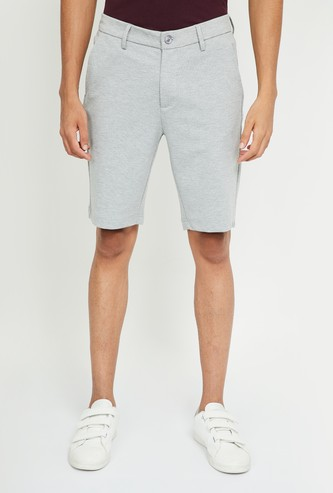 UNITED COLORS OF BENETTON Printed Mid-Rise City Shorts