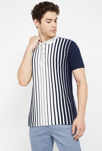 UNITED COLORS OF BENETTON Striped Regular Fit Polo T-shirt