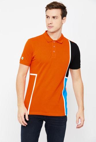 UNITED COLORS OF BENETTON  Colourblock Regular Fit Polo T-shirt
