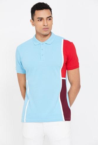 UNITED COLORS OF BENETTON Men's Colourblocked Slim Fit Polo T-shirt