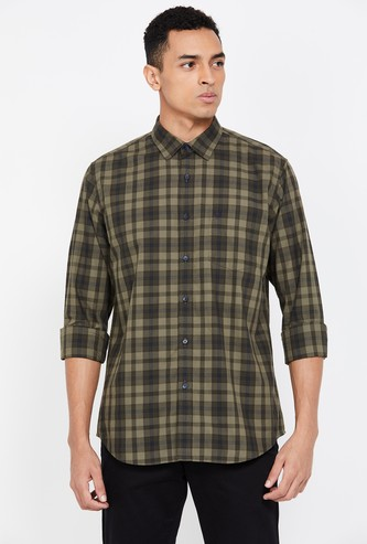 ALLEN SOLLY Slim Fit Casual Shirt with Checks