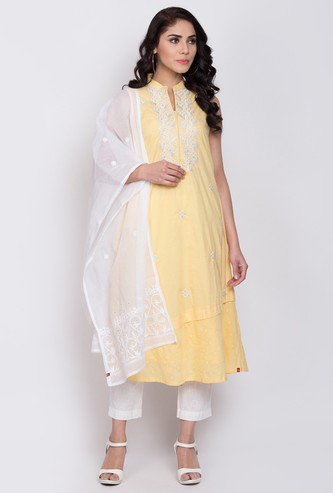 BIBA Women Embroidered A-line Kurta