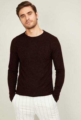 FORCA Men Textured Crew-Neck Sweater