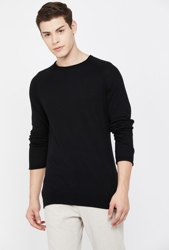 BOSSINI Men Solid Crew Neck Sweater