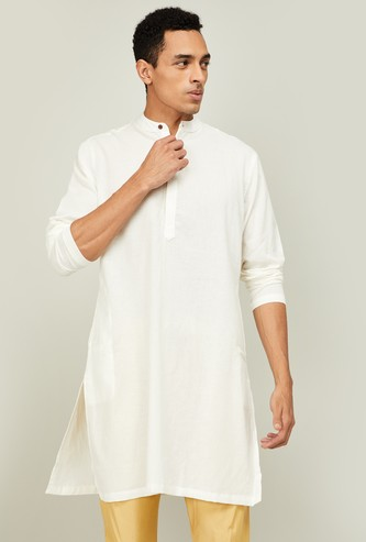 MELANGE Men Solid Regular Fit Kurta