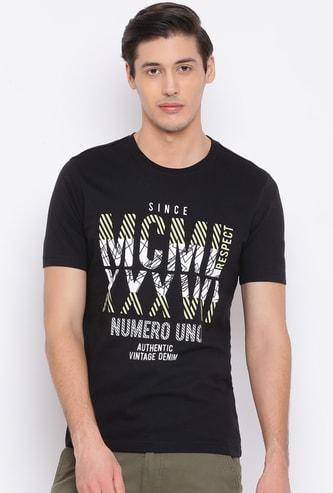 NUMERO UNO Men Printed Regular Fit Crew Neck T-shirt