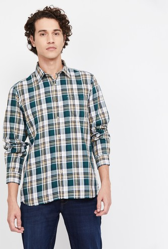 LEE COOPER Men Checked Regular Fit Casual Shirt