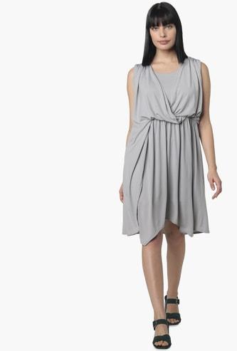VERO MODA Women Solid Cinched Waist Dress