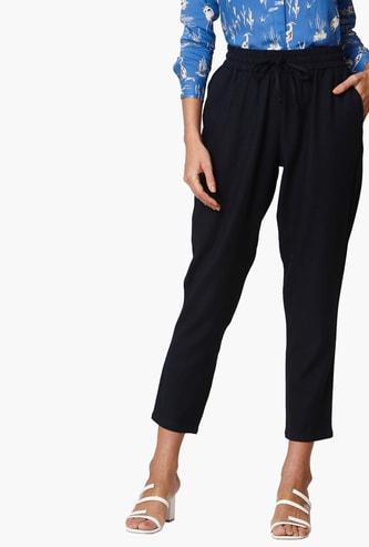 VERO MODA Women Solid Elasticated Trousers