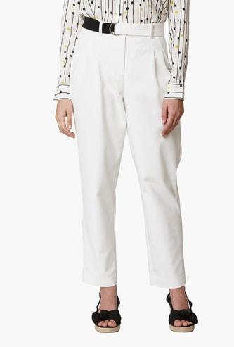 VERO MODA Women Solid Slim Fit Trousers