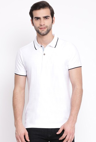 NUMERO UNO Men Piping Detailed Regular Fit Polo T-shirt
