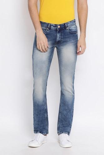 NUMERO UNO Men Stonewashed Slim Straight Fit Jeans