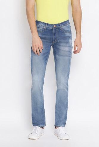 NUMERO UNO Men Stonewashed Slim Tapered Jeans