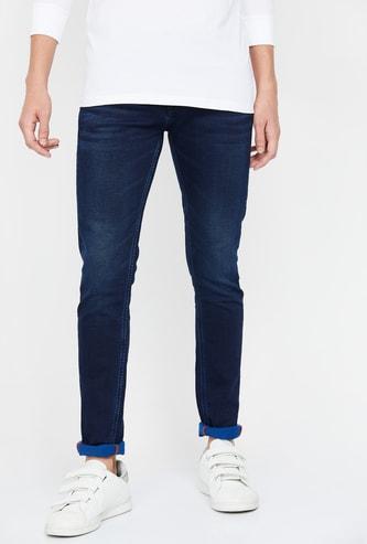 KILLER Men Stonewashed Skinny Fit Jeans